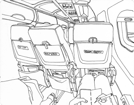 anna-lubinski-illustration-croquis-sketchbook-lieux-cabine-avion-cockpit-plane