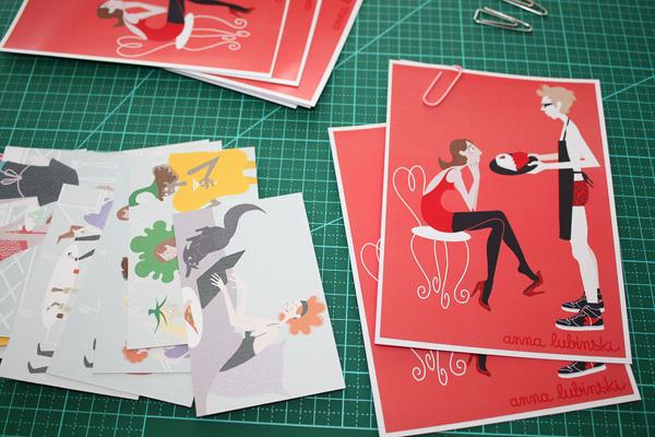 Anna Lubinski - Illustration cartes de visite et cartes de Saint Valentin