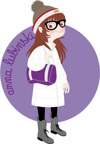 Anna Lubinski - Illustration cartoon portrait of my little sister