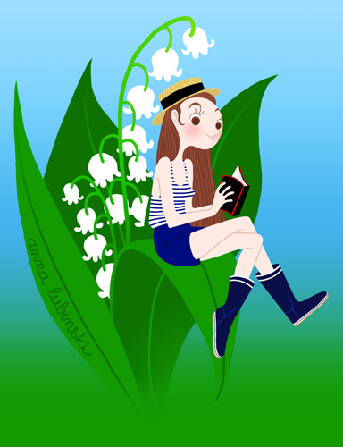 Anna Lubinski - Illustration 1er Mai fête du travail