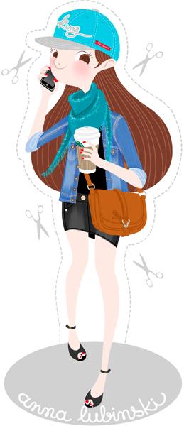 Anna Lubinski - Illustration casquette