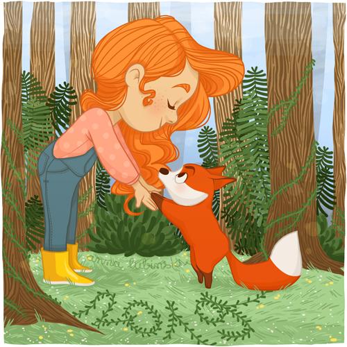 Anna-Lubinski-illustration-foret-renard