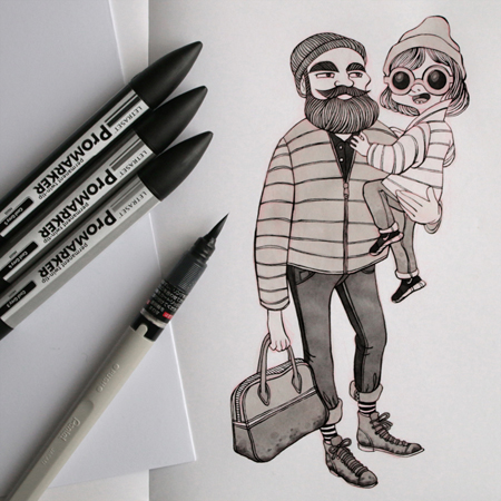 Anna Lubinski - Illustration - Parisian portraits